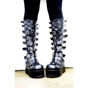 Demonia Platform Wedge Boots